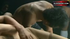 9. Aya Sugimoto Group Sex Scene – Flower And Snake