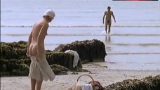 Caroline Langrishe Naked on Beach – Mosley