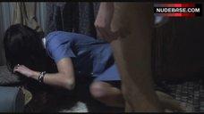 1. Katrin Cartlidge Naked Tits Through Open Shirt – Naked