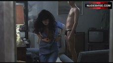 4. Katrin Cartlidge Naked Tits Through Open Shirt – Naked