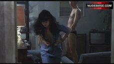 5. Katrin Cartlidge Naked Tits Through Open Shirt – Naked