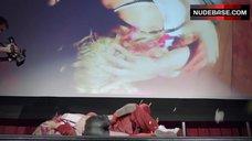 5. Sexy Sara Paxton on Stage – Love & Air Sex