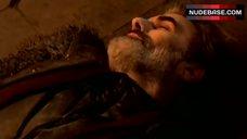 7. Rhona Mitra Decolltte – Beowulf
