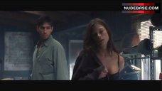 Rhona Mitra in Black Bra and Panties – Highwaymen