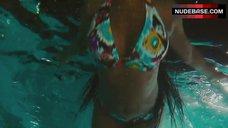 Tasha Smith in Bikini in Pool – Jumping The Broom