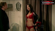 Nikki Novak in Hot Red  Lingerie – Gary Unmarried