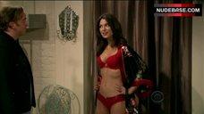 Nikki Novak in Hot Red  Lingerie – Gary Unmarried