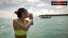 7. Candice Swanepoel Posing for Magazine – The Victoria'S Secret Swim Special