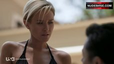 4. Nicky Whelan in Hot Black Bikini – Satisfaction