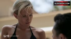 5. Nicky Whelan in Hot Black Bikini – Satisfaction