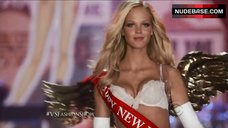Erin Heatherton in White Lace Lingerie – The Victoria'S Secret Fashion Show 2012