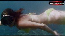 Brooke Adams in Yellow Bikini Underwater – Shock Waves