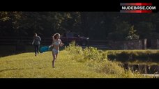 Britt Robertson Outdoors in Lingerie – The Longest Ride