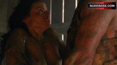 Katrina Law Boobs Scene – Spartacus