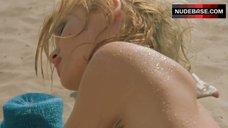 3. Yuliya Mayarchuk Lying Nude on Sand – Cheeky!