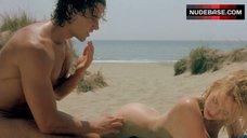 5. Yuliya Mayarchuk Lying Nude on Sand – Cheeky!