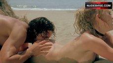 9. Yuliya Mayarchuk Lying Nude on Sand – Cheeky!