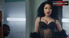 Nicki Minaj in Sexy Black Lingerie – Only
