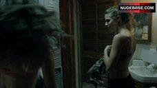 5. Emmy Rossum in Pink Bra – Shameless
