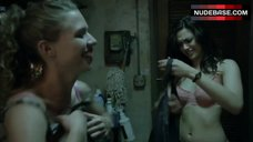 7. Emmy Rossum in Pink Bra – Shameless