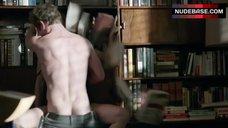 3. Sasha Alexander Hot Sex against Bookshelfs – Shameless
