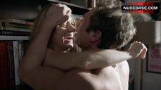 7. Sasha Alexander Hot Sex against Bookshelfs – Shameless