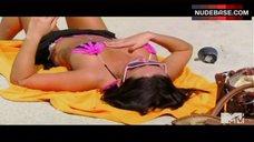 Jenni Jwoww Farley Hot in Bikini on Beach – Jersey Shore
