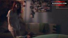10. Kathryn Prescott Pantiless – Skins