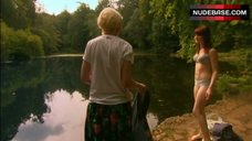4. Kathryn Prescott in Lingerie in Nature – Skins