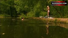 9. Kathryn Prescott in Lingerie in Nature – Skins