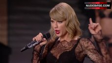 Taylor Swift in See Through Dress on Stage – The Victoria'S Secret Fashion Show 2014