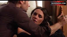 9. Addison Timin Sexy in Black Bra – Californication