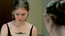 4. Julia Stiles in Black Lingerie – The Business Of Strangers