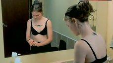 9. Julia Stiles in Black Lingerie – The Business Of Strangers