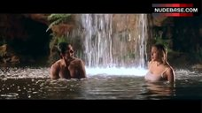 9. Estella Warren Bathing in Waterfall in Underwear – Kangaroo Jack