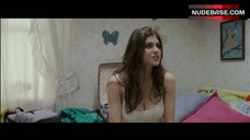 10. Alexandra Daddario Pokies Through White Top – Bereavement