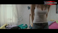 Alexandra Daddario Pokies Through White Top – Bereavement