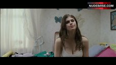 3. Alexandra Daddario Pokies Through White Top – Bereavement