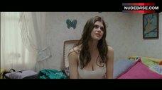 8. Alexandra Daddario Pokies Through White Top – Bereavement
