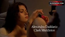 4. Alexandra Daddario Side Boob – The Attic