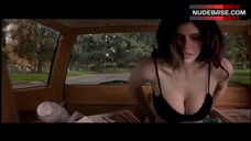 Alexandra Daddario Cleavage in Bra – Burying The Ex