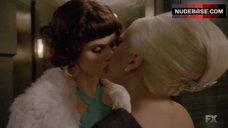 Alexandra Daddario Lesbian Kiss – American Horror Story
