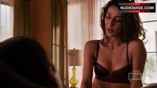 Necar Zadegan in Purple Lingerie – Girlfriends' Guide To Divorce