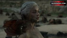 9. Emilia Clarke Naked Breasts – Game Of Thrones