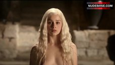 9. Emilia Clarke Shows Tits and Ass – Game Of Thrones