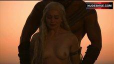 6. Emilia Clarke Bare Tits – Game Of Thrones