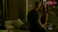 3. Roxanne Mckee Hot in Lingerie – Dominion