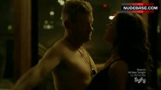 5. Roxanne Mckee Hot in Lingerie – Dominion
