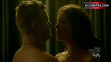 7. Roxanne Mckee Hot in Lingerie – Dominion