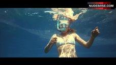 Adrienne Pickering Underwater in White Bikini – The Reef